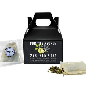cbd green tea, cbd ftp, cbd for the people, hemp tea, wine widow, hemp flower tea